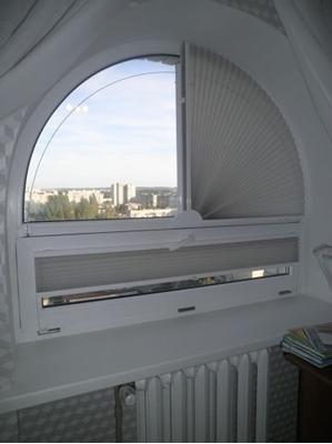 шторы-плиссе на арочное окно на заказ