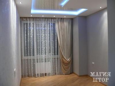 подхваченная штора в спальню