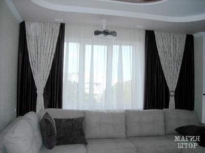 двухслойные шторы в гостиную