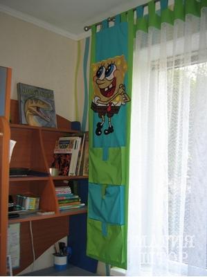 шторы спанч боб в детскую комнату