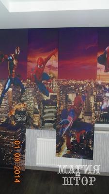 панели фотошторы человек-паук на заказ
