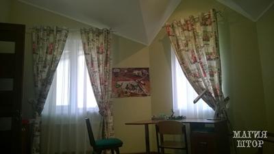 шторы газета в детскую на два окна