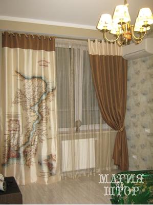комбинированные шторы карта в комнату подростку