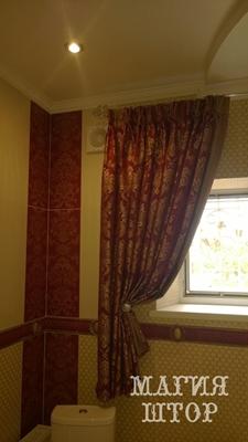 шторы в санузел комплект с кафельной плиткой
