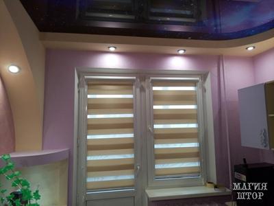 подъемные рулонные шторы полосатые