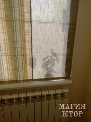 римская штора из ткани лен