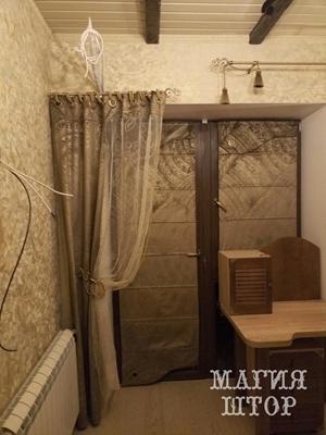 римские шторы из состаренного бархата