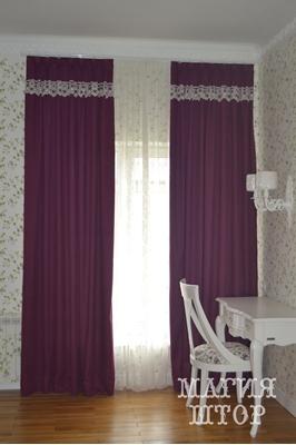 винтажные шторы в спальню