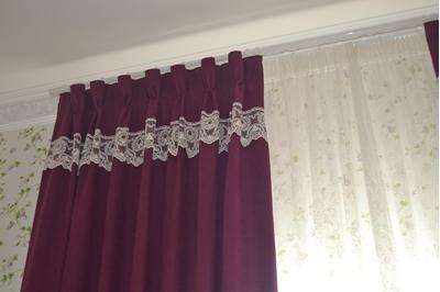 штора с ажурным декором