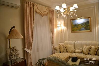 шторы с ламбрекеном в гостиную комплект